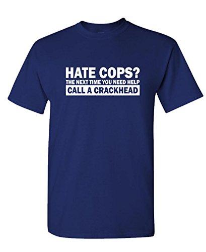 HATE COPS CRACKHEAD Cotton T Shirt
