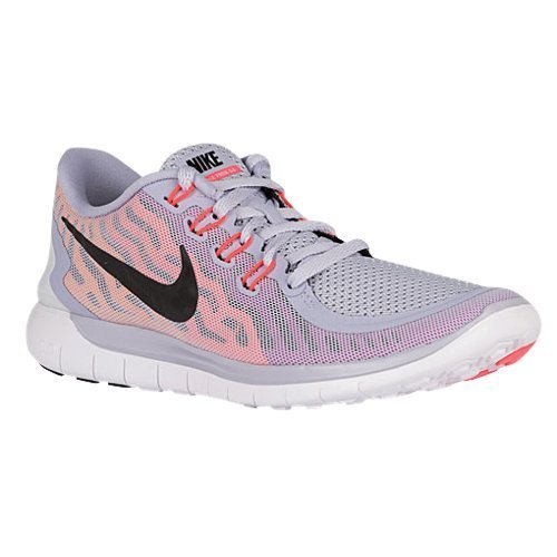 the latest cccf6 43d15 NIKE Women's Free 5.0 Running Shoes (10.5 B(M) US, Titanium/Black/Fuchsia  Flash/Hot Lava)