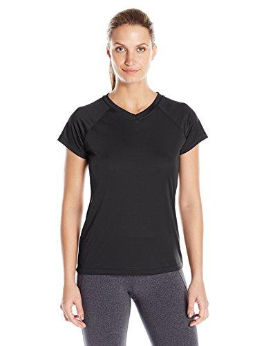 Champion Women's Short Sleeve Double Dry Performance T-Shirt, Black, Medium