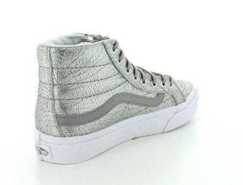 Varevogne Og Sk8-hi Slim Zip Scotchgard, Unisex-adult Sneakers - Sølv / Hvid