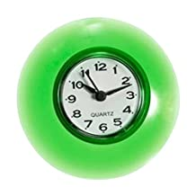 Waterproof Wall Clock£¬CENDA Non-Ticking Mini Silent Quartz Digital Cute Design Suit for Bathroom Kitchen Mirror Suction Shower Decoration Use Wall Clock-Green