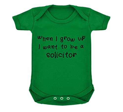 When I Grow Up...A Solicitor Baby Bodysuit Emerald Green with Black Print ()