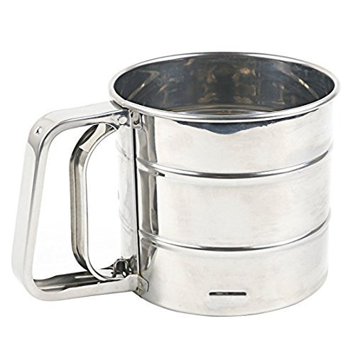 Handy Helpers One Hand Baking. Stainless Steel Flour Sifter Mesh