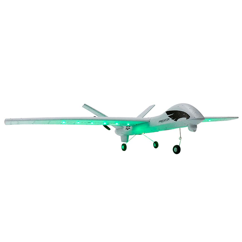 DIY RC Airplane Eemote Control --Z51 2.4G EPP 660mm Wingspan Built-in stability Gyro System/EPP Anti-collision Material --With Light Bar DIY RC Airplane RTF(Install Light Bar fly at night) Cool