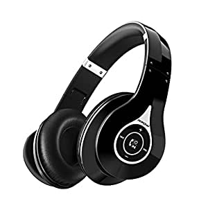 Mpow 059, Auriculares Diadema Bluetooth Inalambricos, Cascos Bluetooth Inalambricos Plegable con Micrófono, 20hrs Reproducción de Música, Hi-Fi Sonido Estéreo para TV, PC, Móviles, Negro