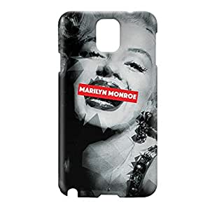 Loud Universe Samsung Galaxy Note 3 3D Wrap Around Marilyn Monroe Print Cover - Multi Color