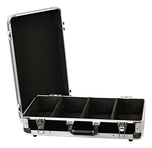 DEEJAYLED TBH Light CD 4 Row Holds UP to 100 Jewel Cases & UP to 200 Plastic Sleeves (TBHECD4BK) ()