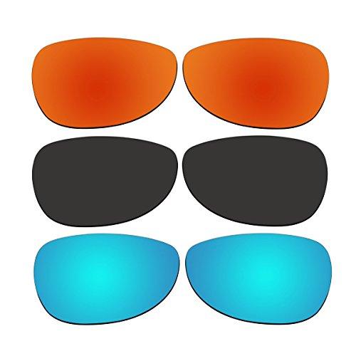 3 Pair Replacement Polarized Lenses for Oakley Felon Sunglasses Pack P1