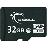 Deals on G.Skill 32GB microSDHC UHS-I/U1 Class 10 Memory Card w/Adapter
