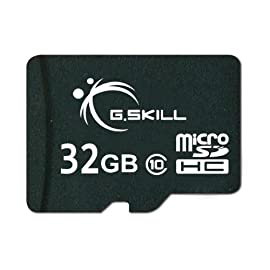 G.Skill Class 6 MicroSDHC Flash Card with SD Adapter (FF-TSDG32GA-C6) 115 Ultra small, super-fast storage device for mobile phones, digital cameras, digital music players, GPS, automotive recorders and camcorders SD Adapter included Fully compatible with SD 2.0 Standards
