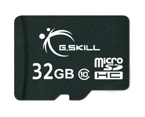 G.Skill 32GB Class 10 MicroSDHC Flash Card with SD Adapter