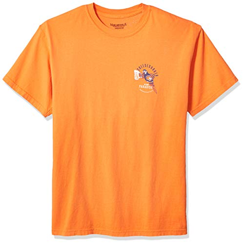 Margaritaville Men's Cheeseburger in Paradise Graphic Short Sleeve T-Shirt, Mango, 3X-Large ()