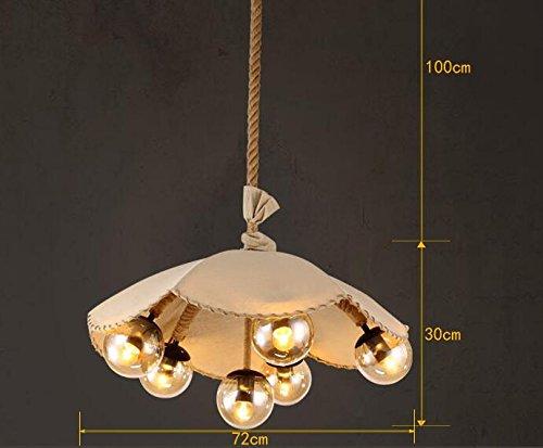 Haoaijia lampadario luci a sospensione corda di lino ombrello sala