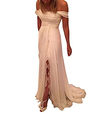 Mr.ace Homme Simple Chiffon vestidos de novia Long Summer Bridal