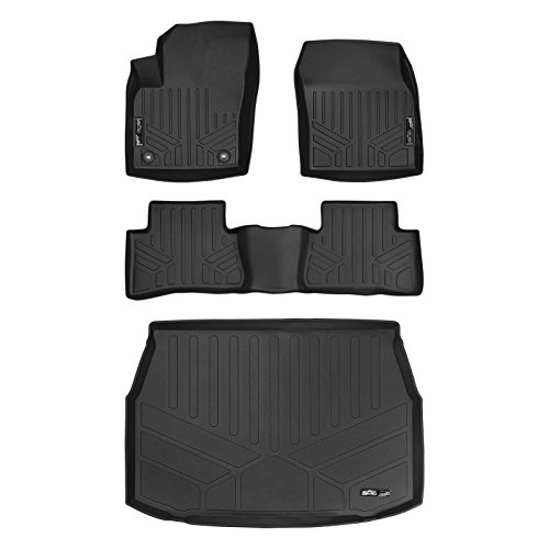 MAX LINER A0314/B0314/D0314 Custom Fit Floor Mats 2 Rows and Cargo Liner Set Black for 2018-2019 Toyota C-HR