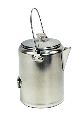 Texsport Aluminum 9 Cup Percolator Coffee Maker for Outdoor Camping by Texsport