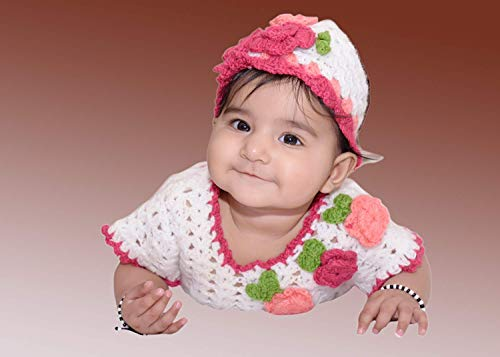 SKR Black and White Crystal Baby Bracelet Nazariya for Boys and Girls to Protect from Evil Eye
