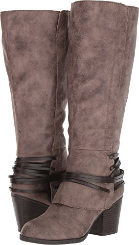 Fergalicious Women's Lexis Wide Calf Western Boot, Taupe, 8.5 M US