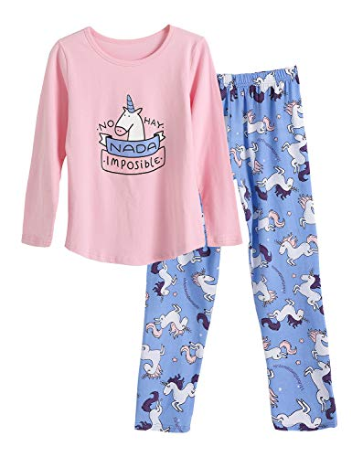 Girls Pajamas Size 14 - Big Girls Unicorn Cotton Pajama Set
