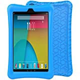 BMOUO Silicone Case for A m a z o n F i r e 7 Tablet (7th Generation, 2017 Release only) - Anti Slip Shockproof Light Weight Protective Cover, Blue