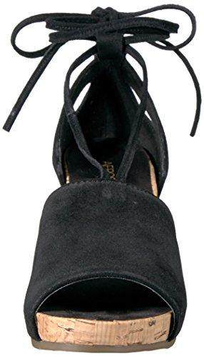 Aerosoles Women's Spring Plush Wedge Sandal Black Suede otdBOSEDR