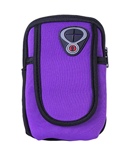 Bigood Sport Armband Sac Bras iPhone 6s Smartphone Téléphone Portable Joggong Violet Violet
