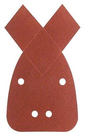 Bosch 2609256A71 Feuilles abrasives pour Ponceuses Multi 90 x 135 Nombre de trous 4 Grain 180 Lot de 5 feuilles