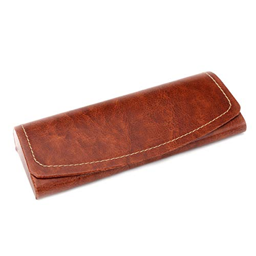PU Leather Hard Shell Eyeglass Case Portable Sunglasses Glasses Holder Pouch (Brown) by Bauson (Image #1)