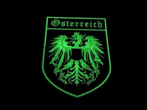 Autriche Autrichienne Cr/ête Brille dans Le Noir Drapeau Cosplay Airsoft PVC Patch