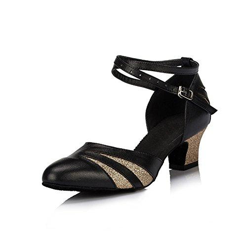 schwarz Mehrfarbig Tanzschuhe misu Damen goldfarben tSOx7