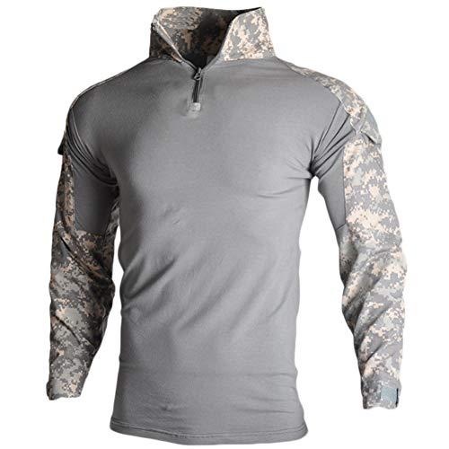 Bdu Acu Shirt - YOUNGFASHION Men's Military Airsoft BDU Shirt Combat Tactical Long Sleeve Shirt,ACU,L