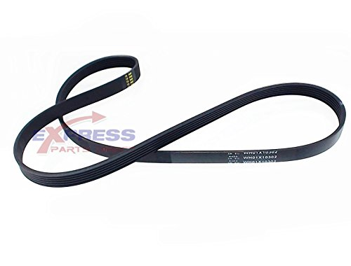 Replacement Washer Belt (EXPWH01X10302 GE Hotpoint Washer Drive Belt Replaces WH01X10302, AP3968432, 1264395, AH1482278, EA1482278, PS1482278, WH01X10353, 175D5131P003)