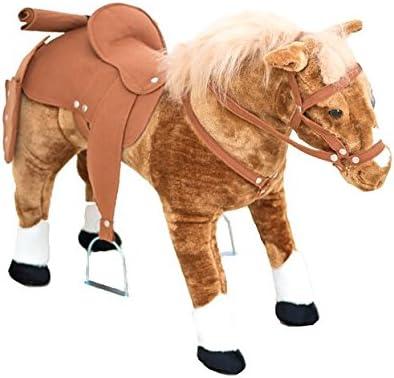 Caballo anglo árabe de vaquero con silla de montar y arnés: Amazon ...