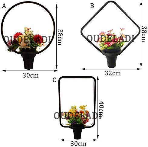Moderne Led Rund/Ling Form/Quadrat Tian Garten Wandlampen Persönlichkeit Treppen Einfaches Bett Schlafzimmer Wohnzimmer C Dia 30Cm Weiß