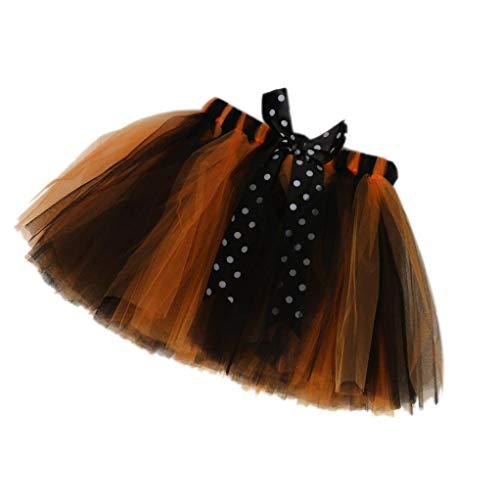 Halloween Costume Toddler Baby Girls Petticoat Pettiskirt Bowknot Tutu Skirt Dress (M, Black) -
