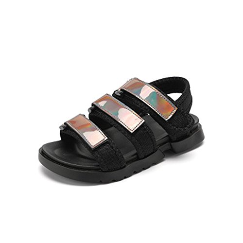 d571da5e708cac coloing Boy s Leather Closed Toe Outdoor Sport Sandal Toddler Little  Kid(Silver 34
