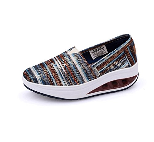Canvas Shoes Breathable Student Dream Ladies Shoes Thick Slippers Sports and Casual Spring Size Color Blue 39 Shoes Bottom Summer xS18qw8p
