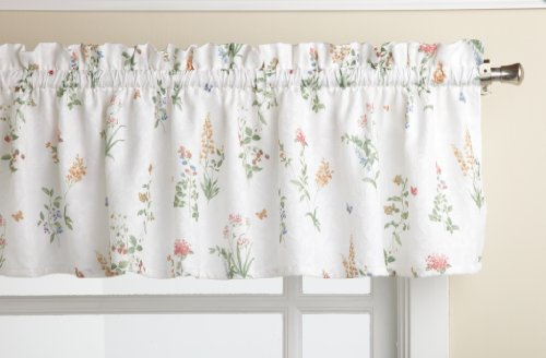 LORRAINE HOME FASHIONS English Garden 55-inch x 12-inch Tailored Valance, - Valance Tailored Garden