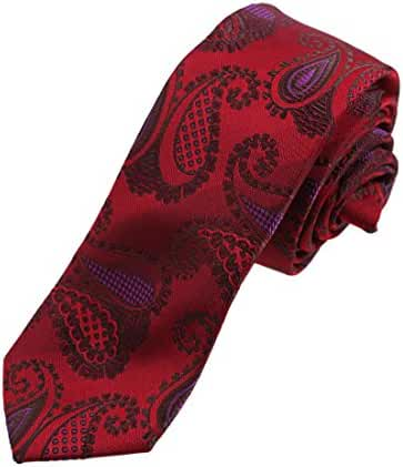 DAE7B.01 Multicolors Patterned Microfiber Perfect Skinny Tie By Dan Smith