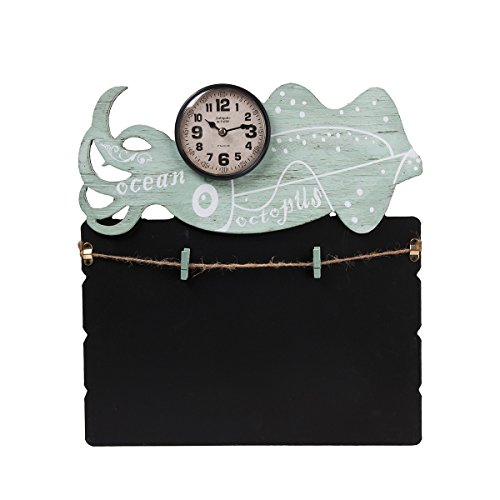 TORCH Decorative Small Lovely Animal Figure Wooden Chalkboard Messageboard with Mini Clock for Hanging and Organizing Prints, Instax, Photos, Artwork (OCT)