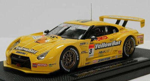1/43 YELLOW HAT YMS TOMICA GT-R Fuji MOTUL #3(イエロー) 「オートバックス SUPER GT500 2008シリーズ」 44130