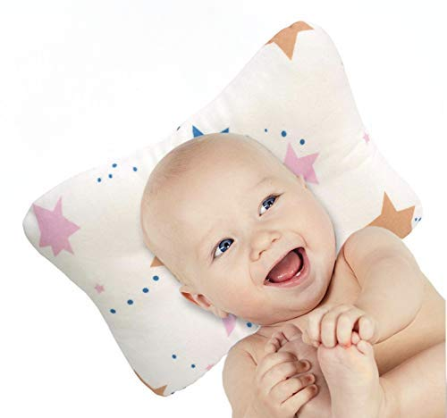 Baby Head Shaping Pillow and Swaddle Blanket Set | 3D Air mesh Infant Pillow | Prevents Flat Head Syndrome | Soft and Comfortable | Hypoallergenic | Breathable Materials