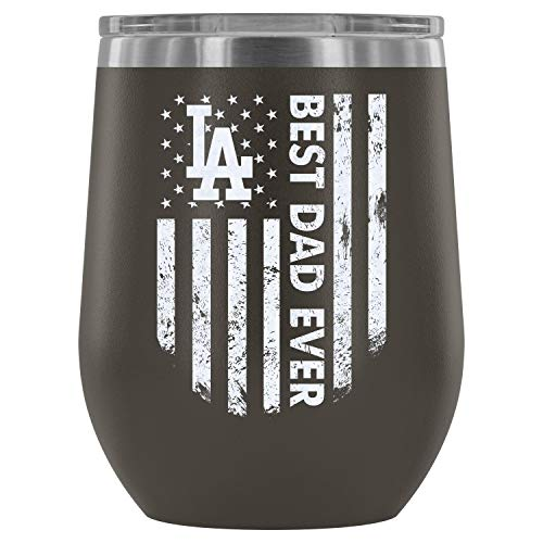 - Stainless Steel Tumbler Cup with Lids for Wine, Best Dad Ever Wine Tumbler, Los Angeles Dodgers Football Vacuum Insulated Wine Tumbler (Wine Tumbler 12Oz - Pewter)