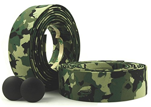 MARQUE Camouflage Road Bike Handlebar Tape - 2PCS per Set (Black/Green)