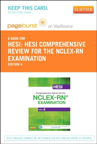 HESI Comprehensive Review for the NCLEX-RN Examination - Elsevier eBook on VitalSource (Retail Access Card), 4e by Elsevier