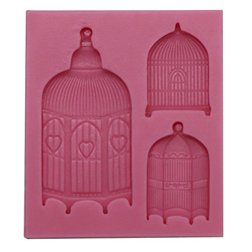 Funshowcase Wedding Filigree Love Bird Cages Silicone Mold for Sugarcraft, Cake Decoration, Cupcake Topper, Chocolate, Pastry, Polymer Clay, Soap Making, Epoxy Resin, Crafting -