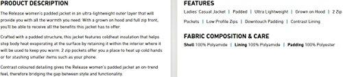 Casual Azalea Trespass Padded Womens Release Jacket AqxfT1n