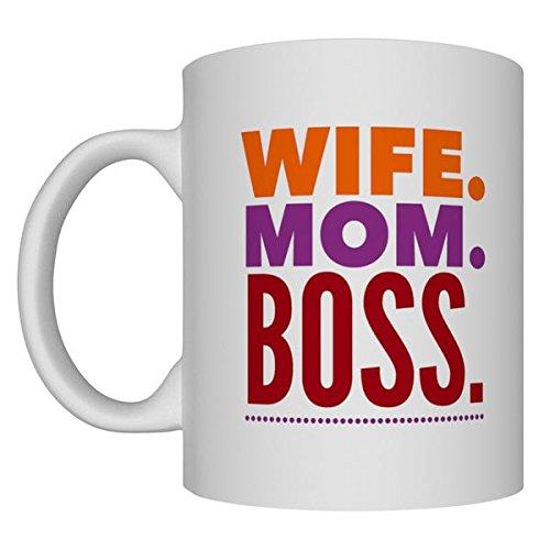 Wife Mom Boss 11oz White Coffee Mug Ideal Gift for Mothers Teesware 170424A
