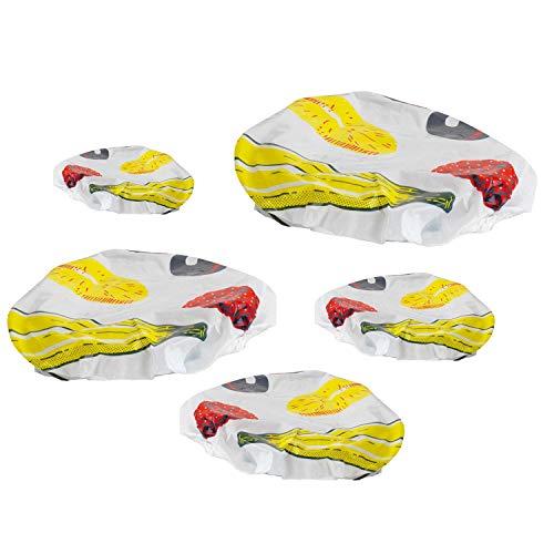 Westmark 5 flexibele deksels, met elastische band, kunststof, wit/gekleurd, 23292260