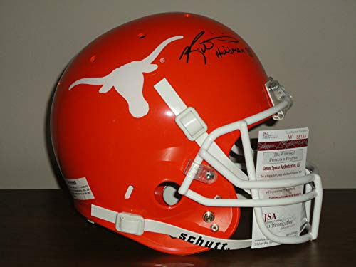 (Ricky Williams Autographed Signed Memorabilia Full Size Texas Longhorns Football Helmet Proof - JSA Authentic)